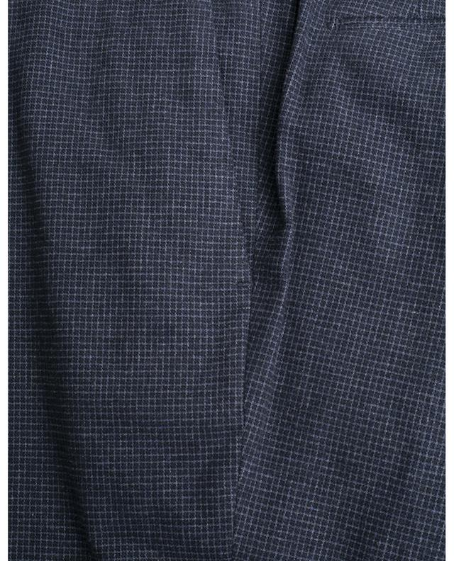 Check cotton slim trousers PT01