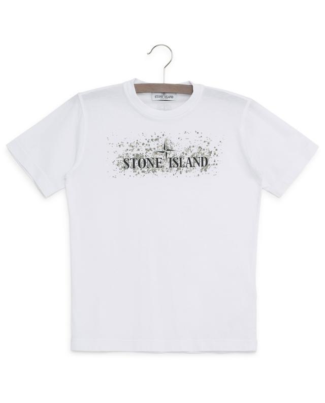 T-shirt en coton imprimé STONE ISLAND