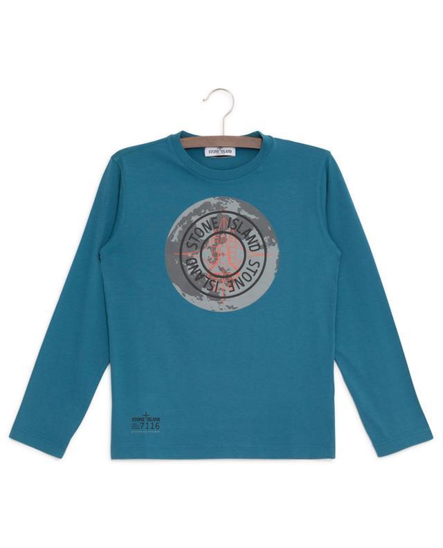 T-shirt manches longues en coton imprimé STONE ISLAND