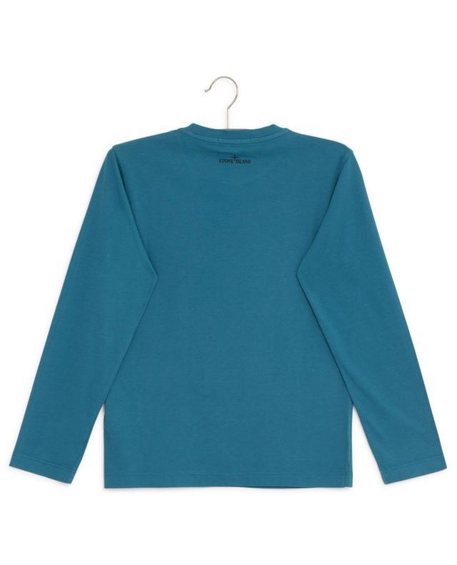 Long-sleeved cotton print T-shirt STONE ISLAND