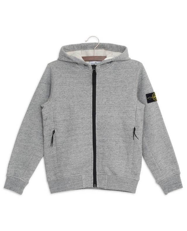 Sweat-shirt zippé à capuche logo rose des vents STONE ISLAND