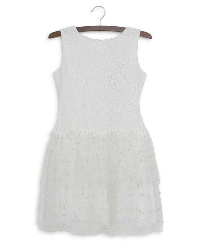Special Occasion lace and pearl embellished tulle dress CHARABIA