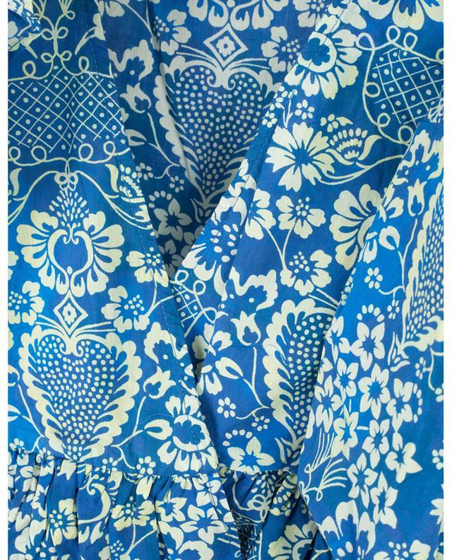 Elodie cropped ruffled floral wrap top RHODE RESORT
