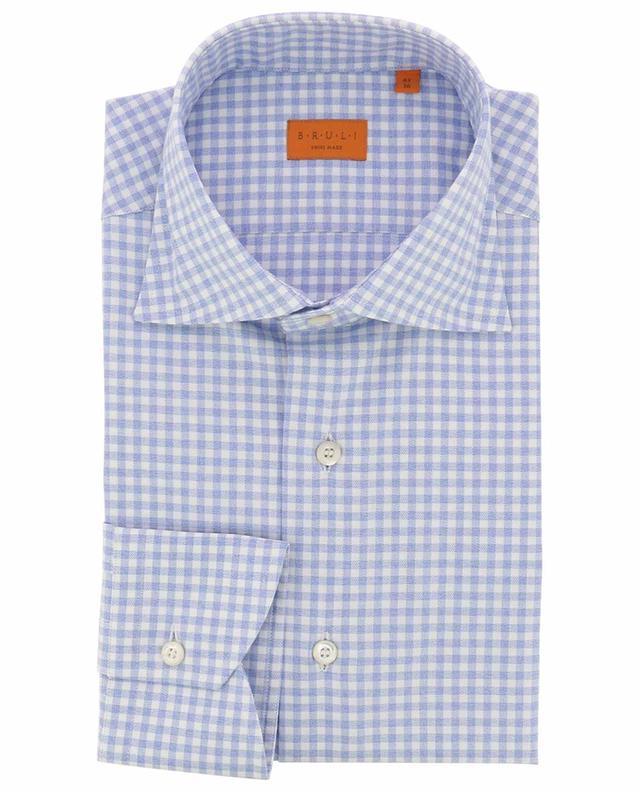 Chemise à carreaux vichy en coton doux BRULI