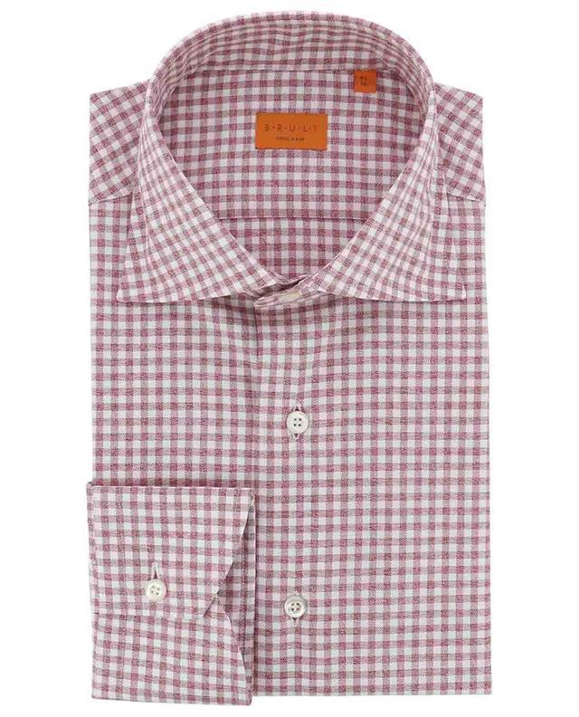 Weiches Baumwollhemd mit Vichy-Karos BRULI