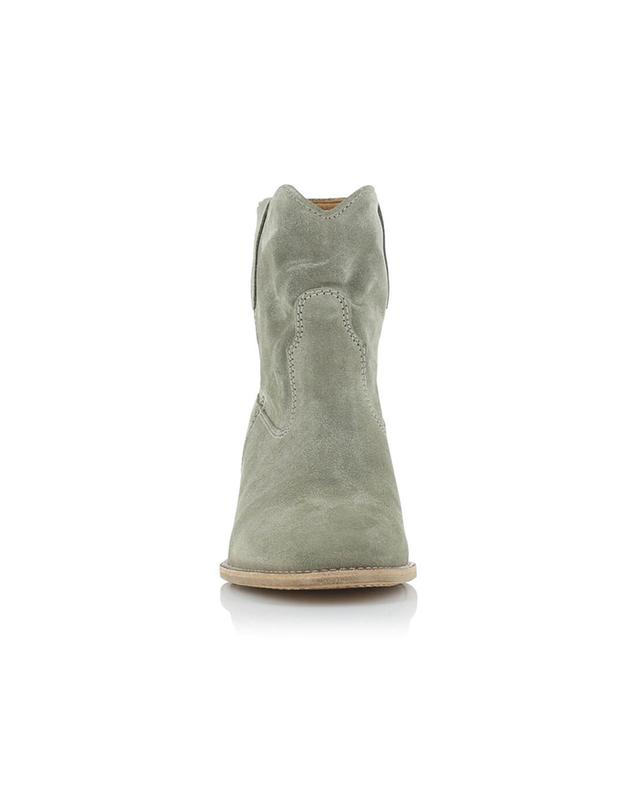 Isabel marant crisi suede wedge ankle boots beige a14220