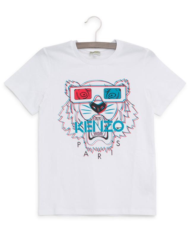 T-shirt en coton imprimé Tiger 3D KENZO
