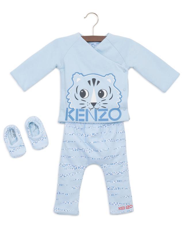 Crazy Jungle reversible padded baby set KENZO