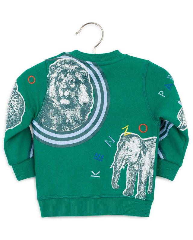 Crazy Jungle printed and embroidered baby sweatshirt KENZO