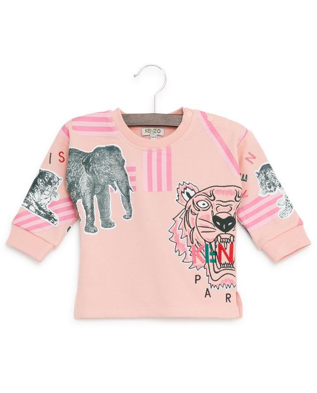 Sweat-shirt en coton brodé Crazy Jungle KENZO