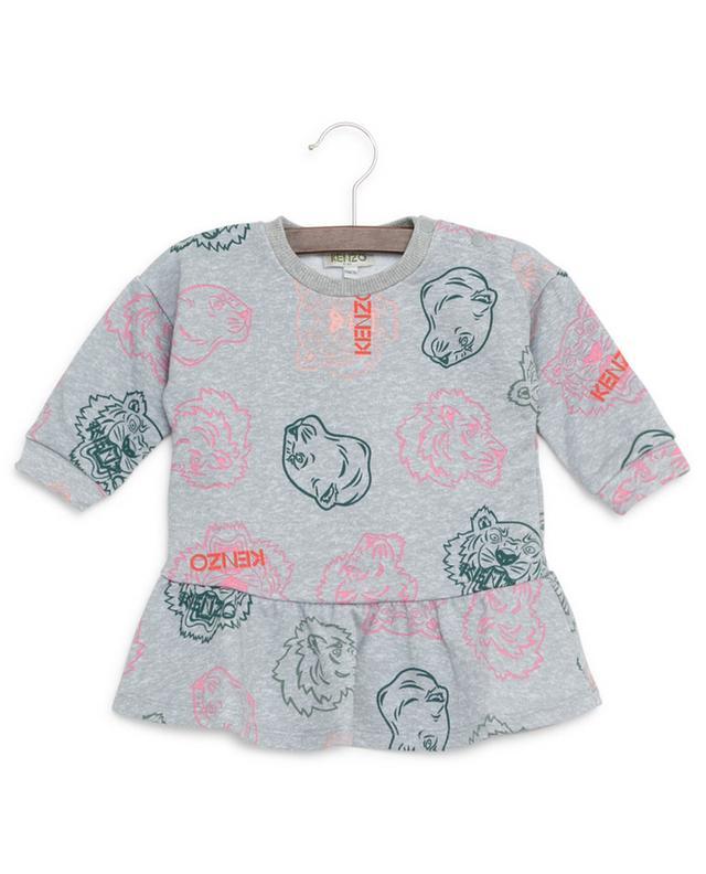 Robe sweat-shirt en coton Crazy Jungle KENZO