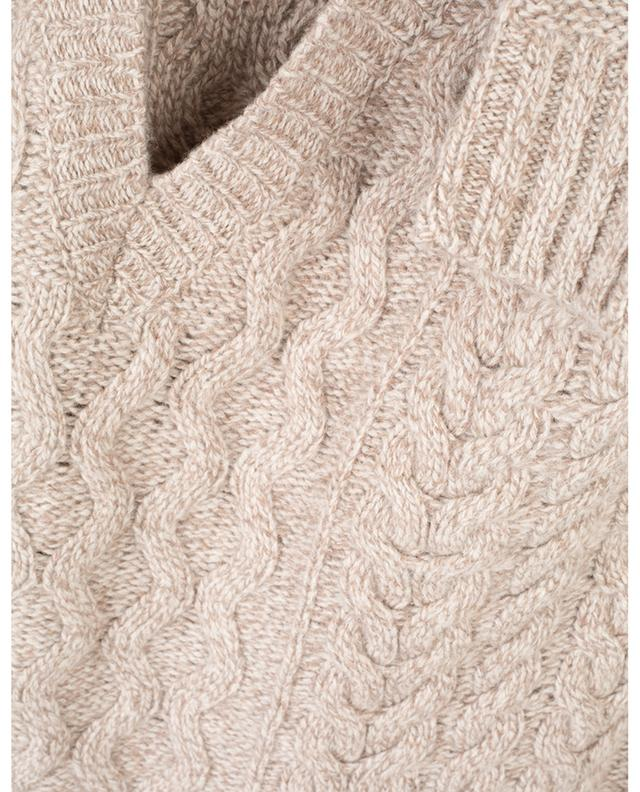 Zaffiro oversized V-neck cable knit jumper WEEKEND MAXMARA
