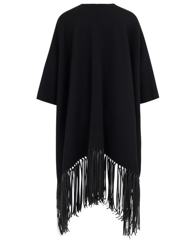 Carina fringed virgin wool cape WEEKEND MAXMARA
