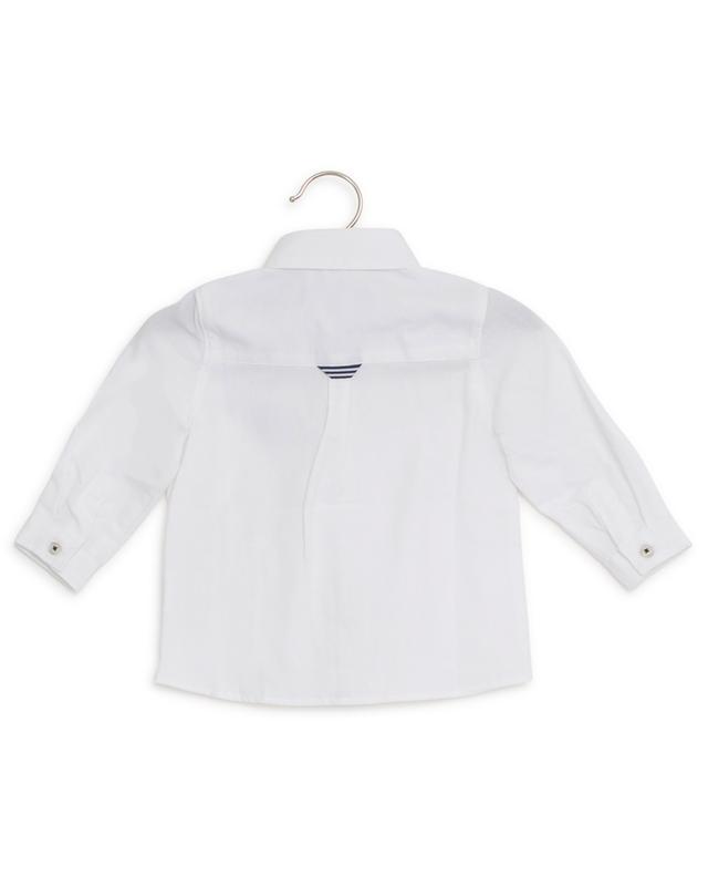 Réunion De Famille logo embroidered cotton shirt TARTINE ET CHOCOLAT