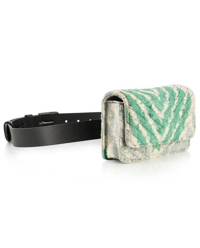 Isabella quilted velvet belt and shoulder bag ROUGH STUDIOS
