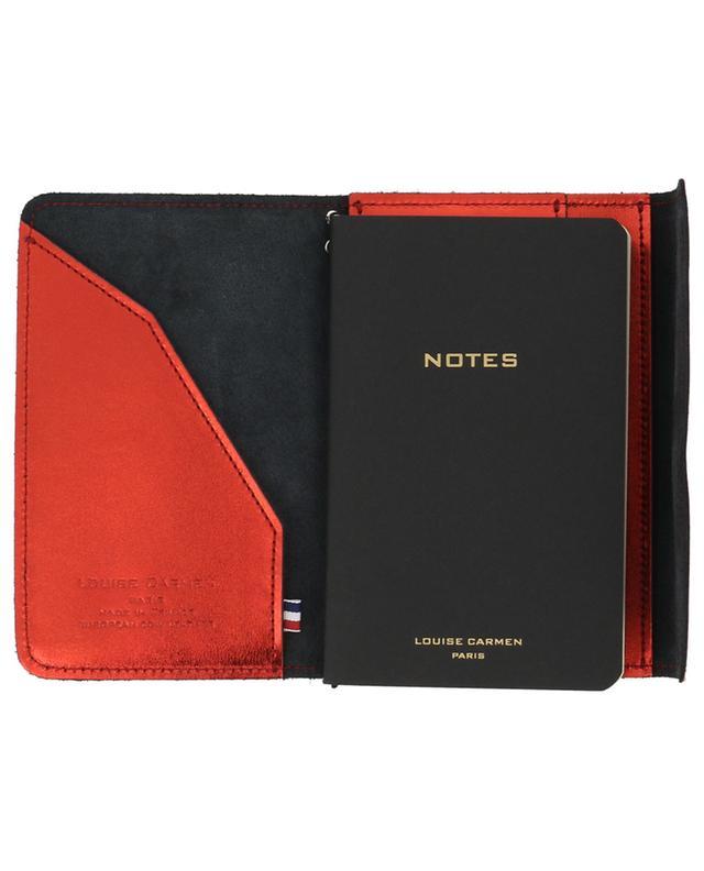 Notizbuch Pocket Organizer aus rotem Leder LOUISE CARMEN PARIS
