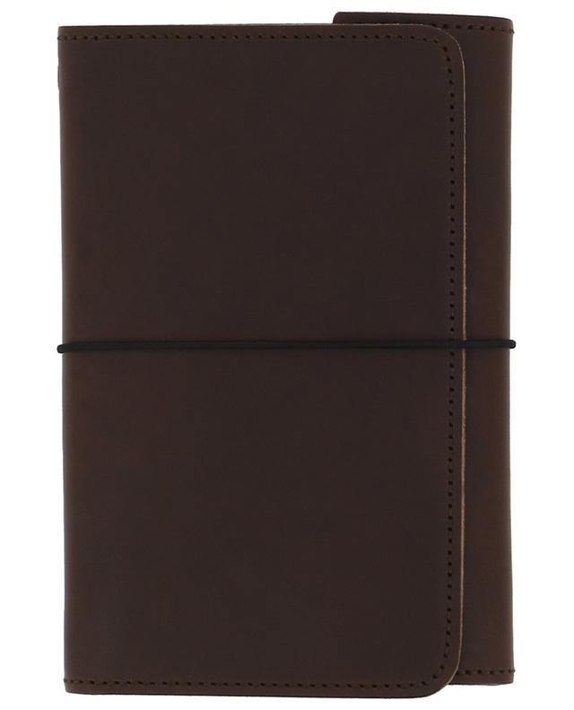 Notizbuch Pocket Organizer aus braunem Leder LOUISE CARMEN PARIS