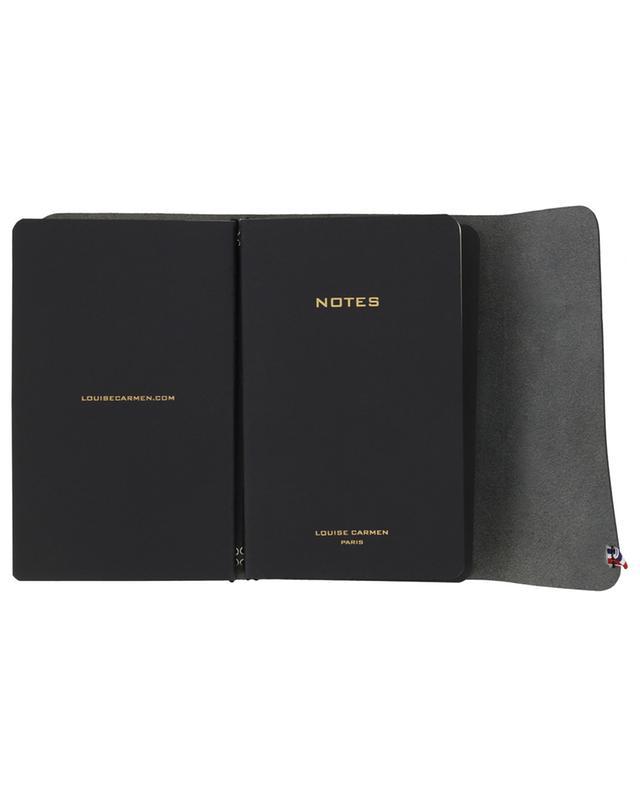 Notizbücher Road Book aus schwarzem Leder LOUISE CARMEN PARIS