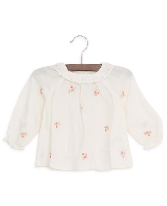 Jardin Merveilleux flowers adorned viscose and wool blouse TARTINE ET CHOCOLAT