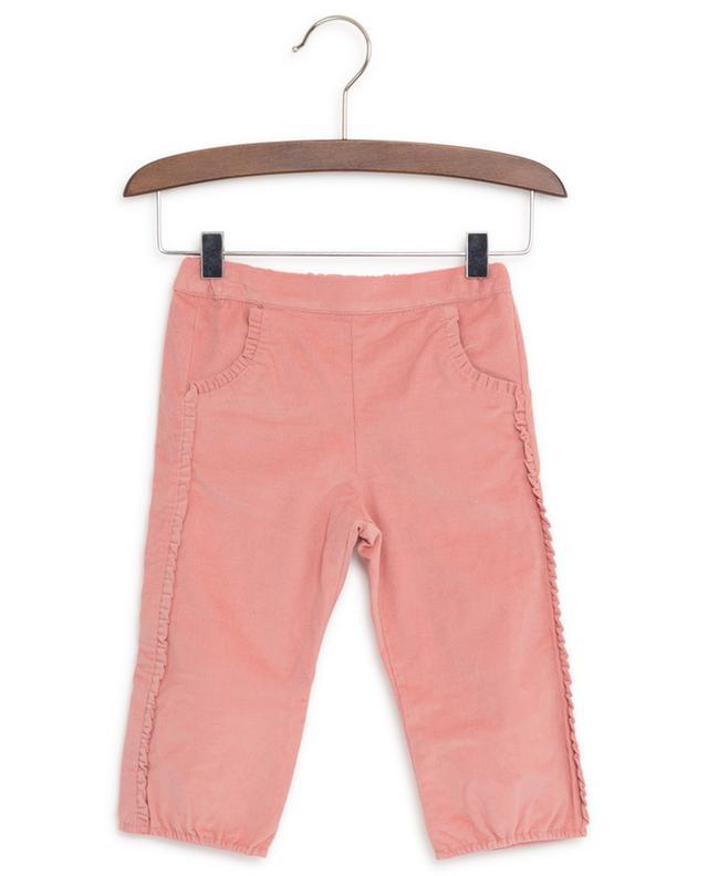 Pantalon en velours côtelé à volants Jardin Merveilleux TARTINE ET CHOCOLAT