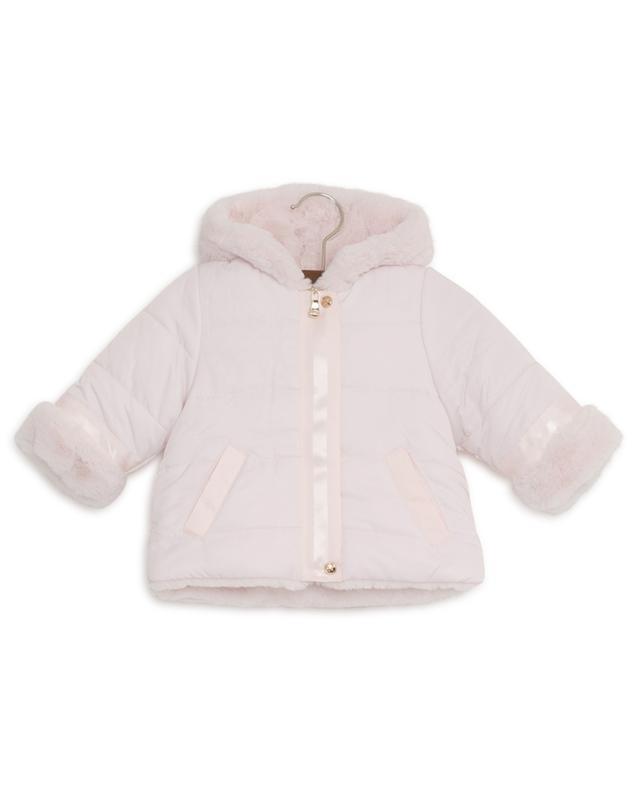 Dimanche En Famille faux fur down jacket TARTINE ET CHOCOLAT