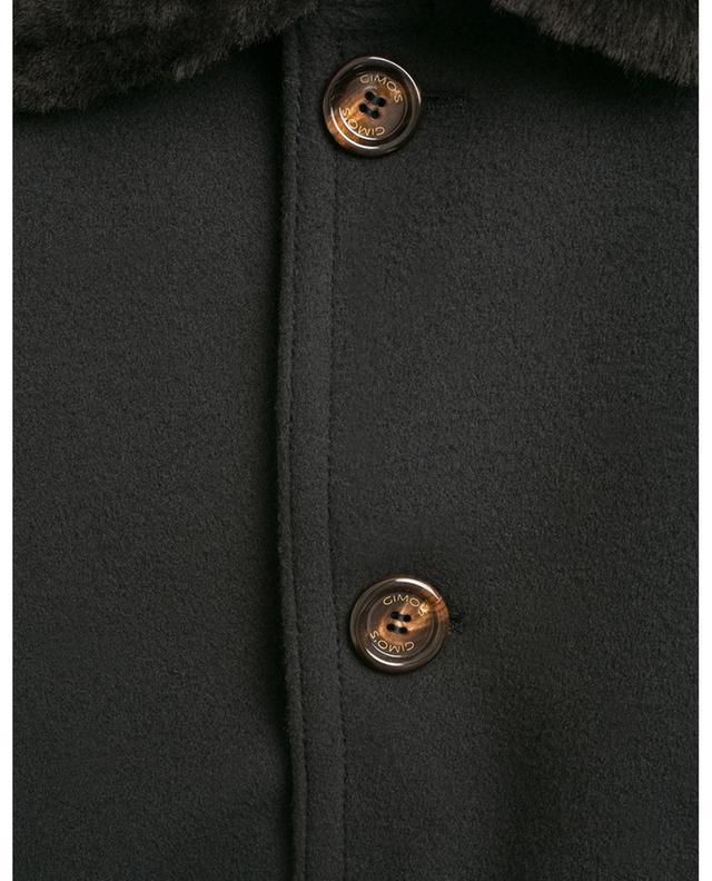 Mantel aus Schurwolle, Kaschmir, Leder und Pelz GIMO'S