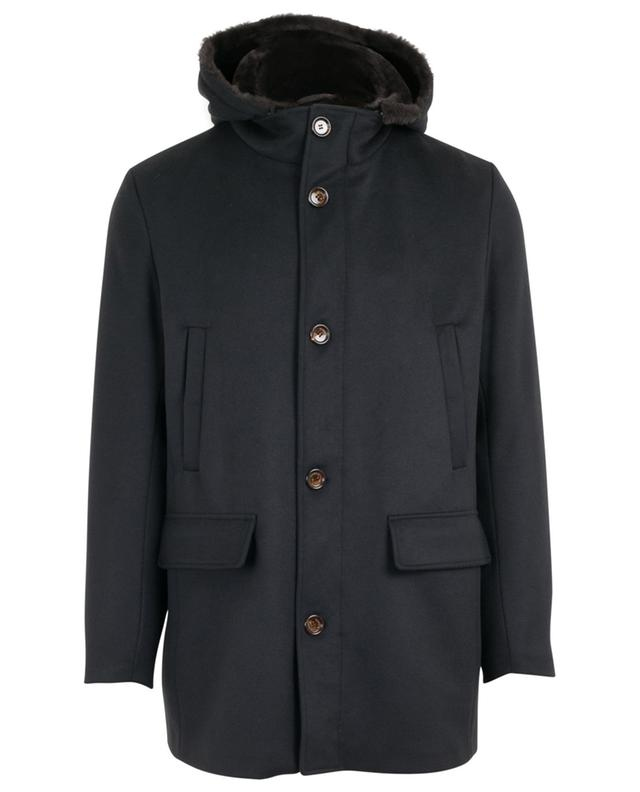 Virgin wool and cashmere coat GIMO'S
