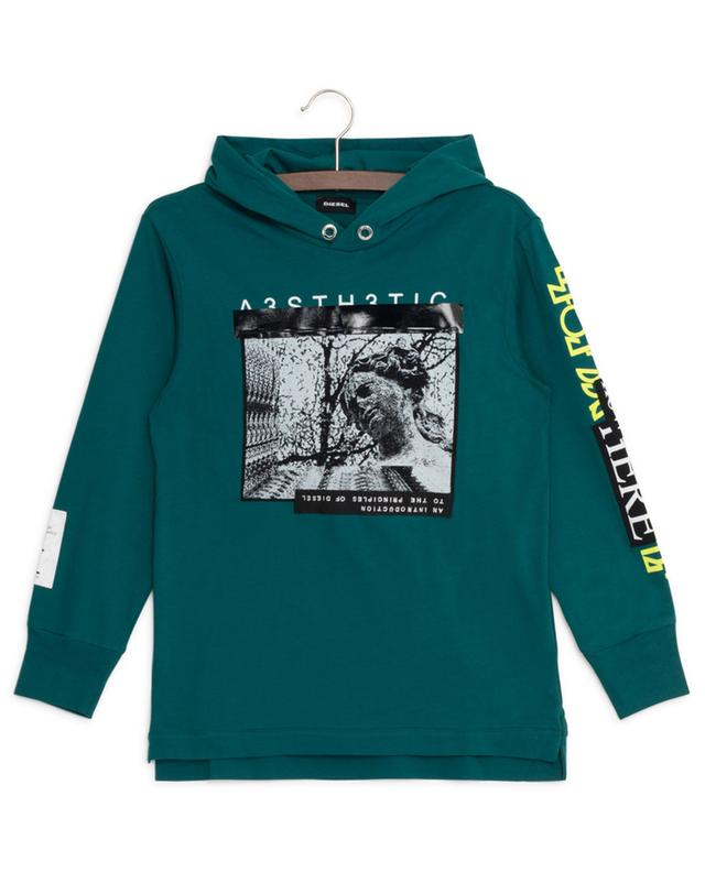 Fonty long-sleeved hooded T-shirt with print DIESEL