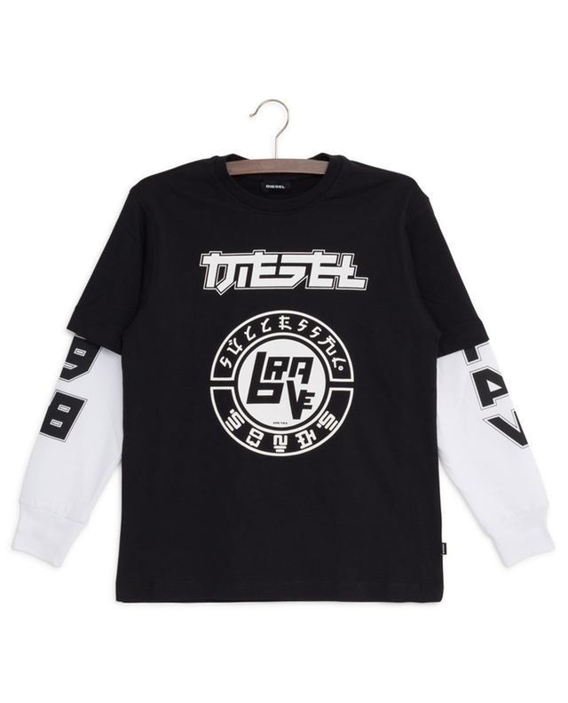 T-shirt à manches longues imprimé Sound DIESEL