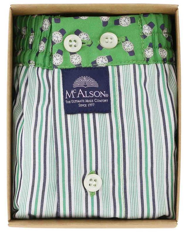 Boxershorts aus Baumwolle Streifen und Uhren MC ALSON