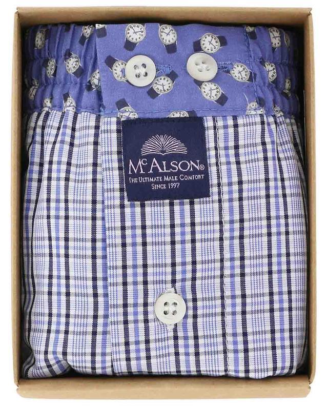 Boxershorts aus Baumwolle Karos und Uhren MC ALSON