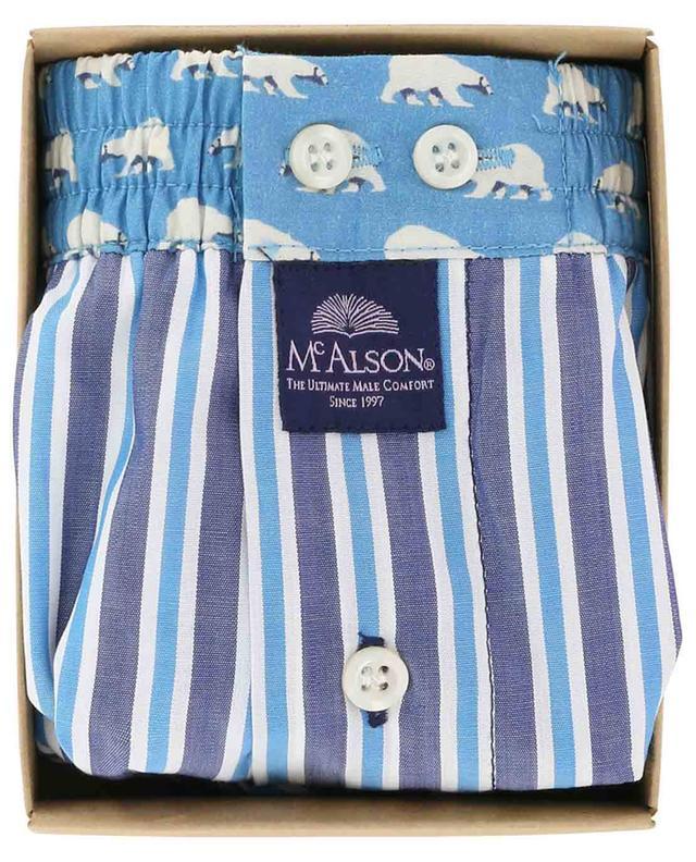 Boxershorts aus Baumwolle mit Streifen und Eisbären MC ALSON