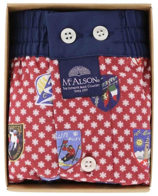 Caleçon en coton flocons de neige et motif alpins MC ALSON