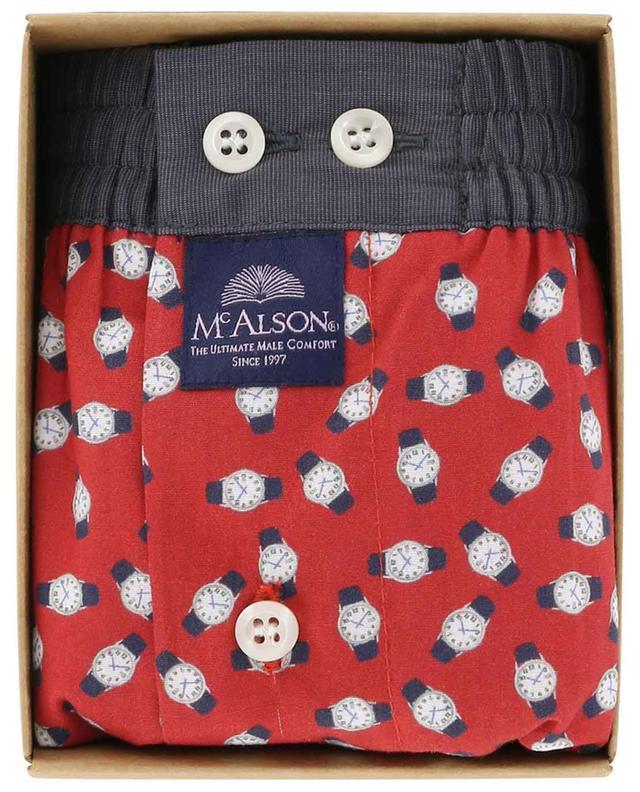 Watch printed cotton boxer shorts MC ALSON