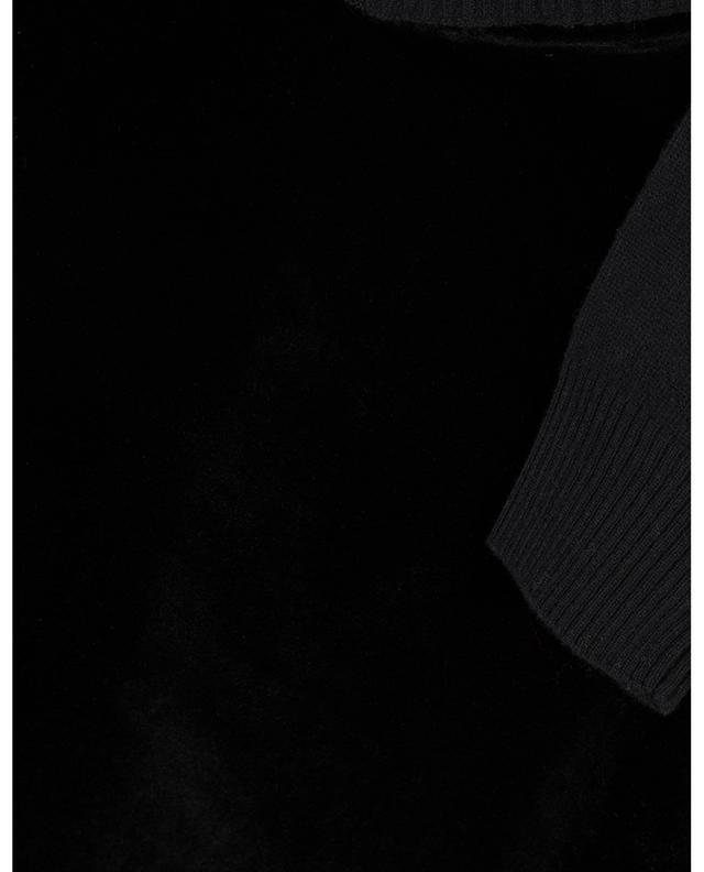 Eremi wool, cashmere and velvet jumper MAXMARA STUDIO