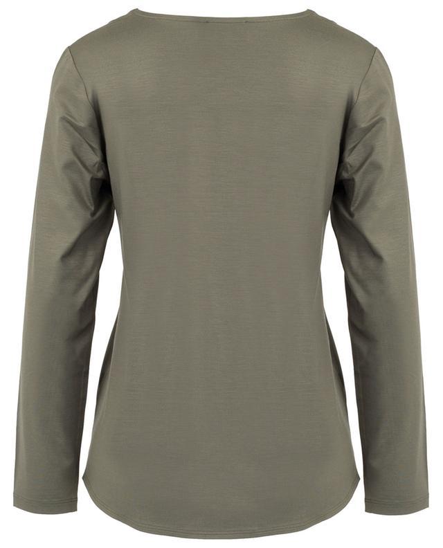 Bi-material long-sleeved T-shirt FRATELLI M