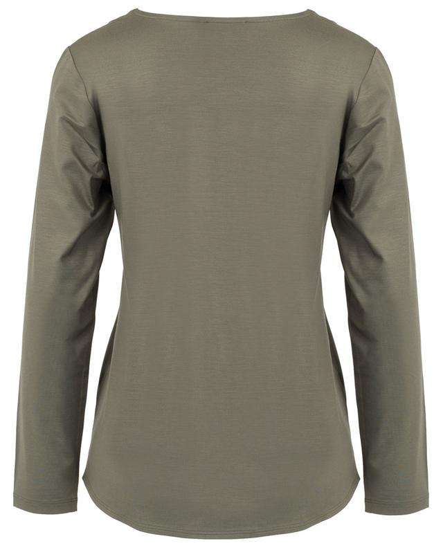 Bi-material long-sleeved T-shirt FRATELLI M