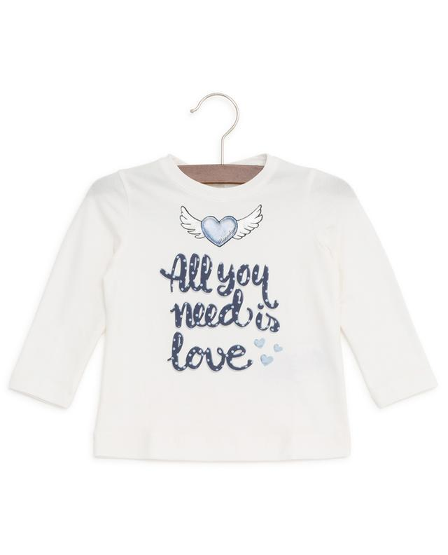 T-shirt manches longues bébé All You Need Is Love MONNALISA