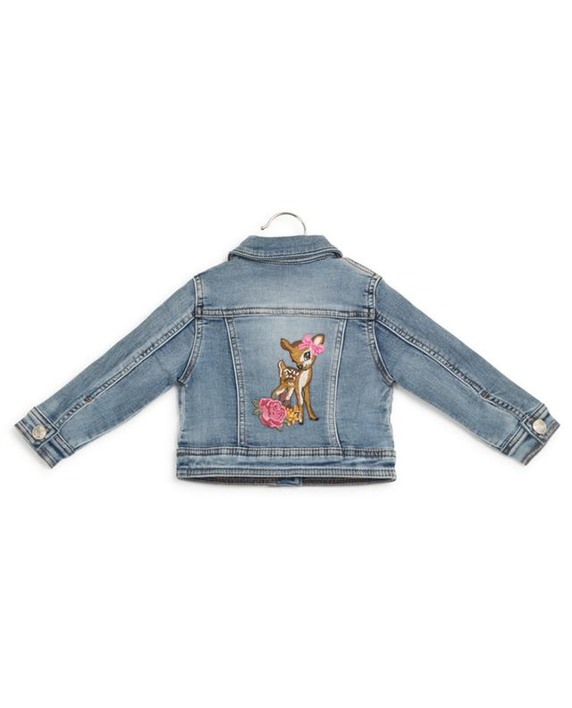 Padded jeans jacket with squirrel and fawn MONNALISA