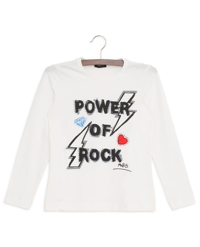 T-shirt orné de cristaux Power Of Rock MONNALISA