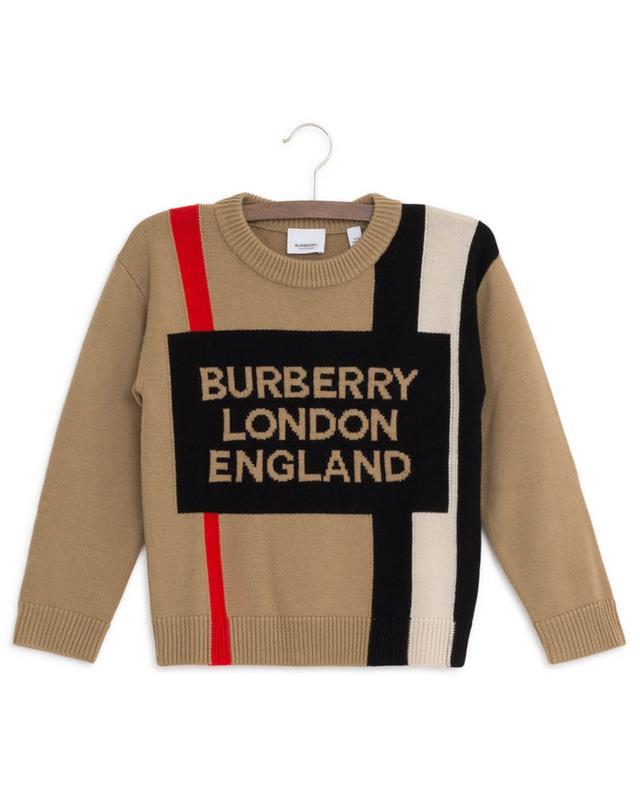 Pull en laine logo Rolfe BURBERRY