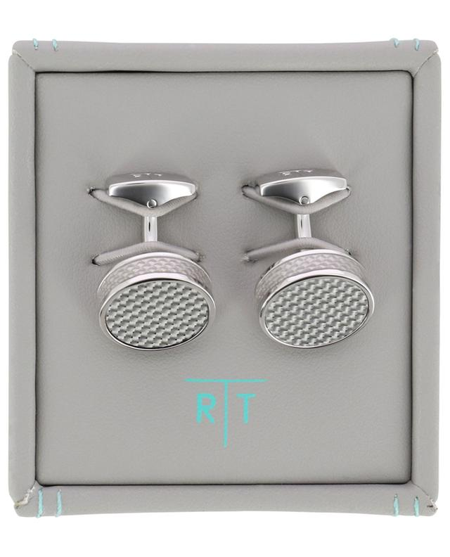 Tablet cufflinks with carbon TATEOSSIAN