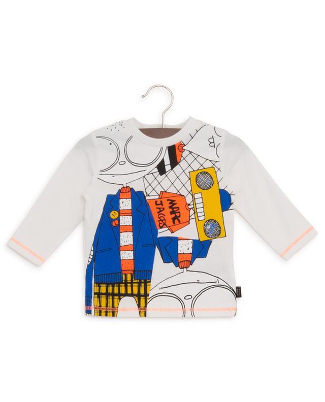 T-shirt à manches longues en coton imprimé LITTLE MARC JACOBS