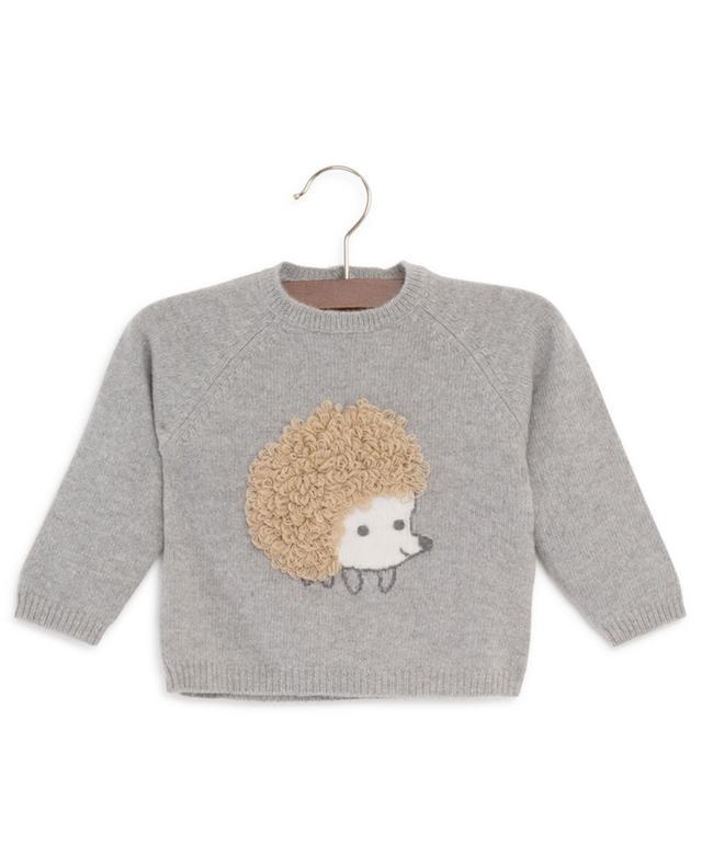 Hedgehog embroidered wool jumper IL GUFO