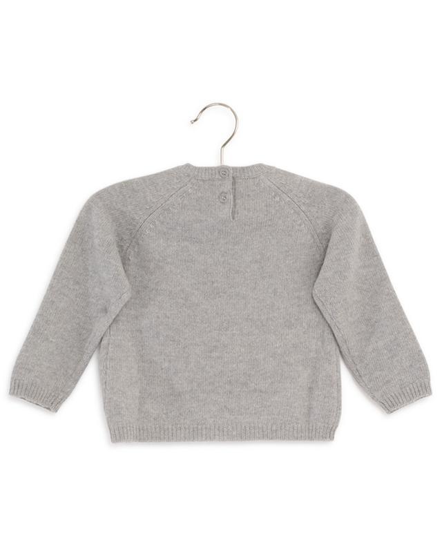 Pull en laine brodé d'un hérisson IL GUFO