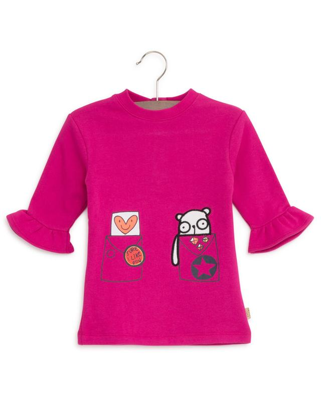 Sure I Like Fun printed and embroidered sweat dress LITTLE MARC JACOBS