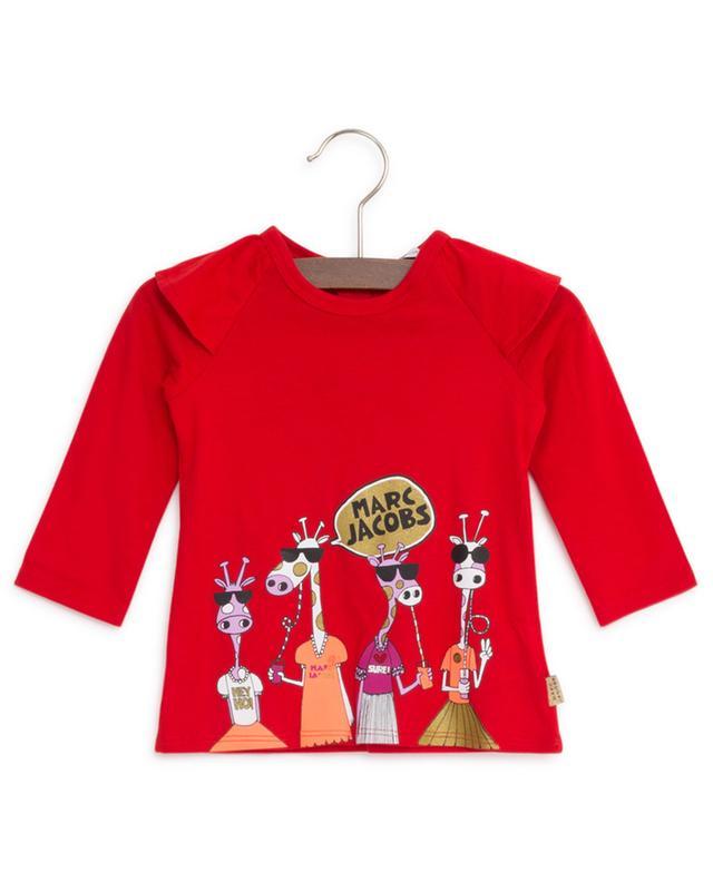 T-shirt à manches longues imprimé girafe et logo LITTLE MARC JACOBS