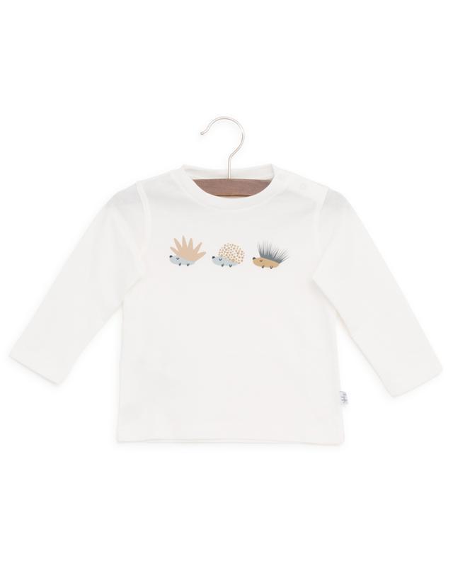 Hedgehog print cotton long-sleeved T-shirt IL GUFO