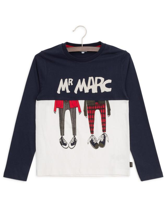 T-shirt bicolore à manches longues imprimé Mr Marc LITTLE MARC JACOBS