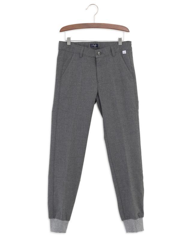 Pantalon en flanelle avec bord côtelé IL GUFO